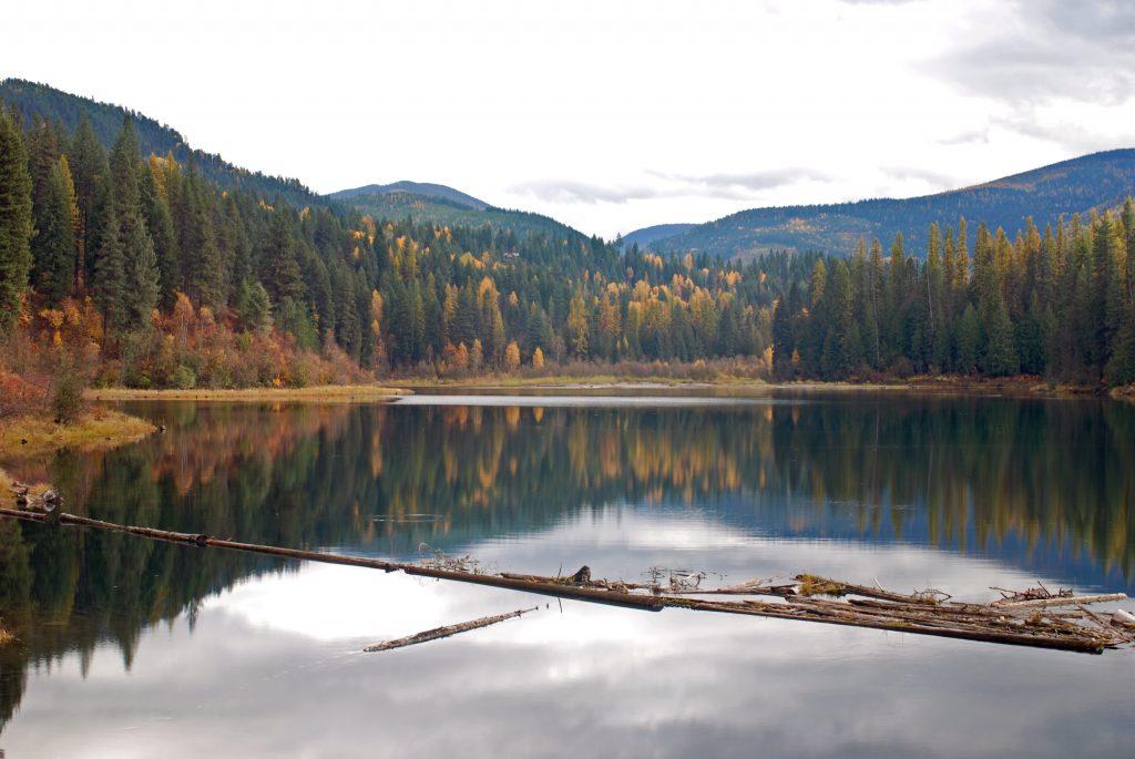 Sullivan Creek reservoir in Fall